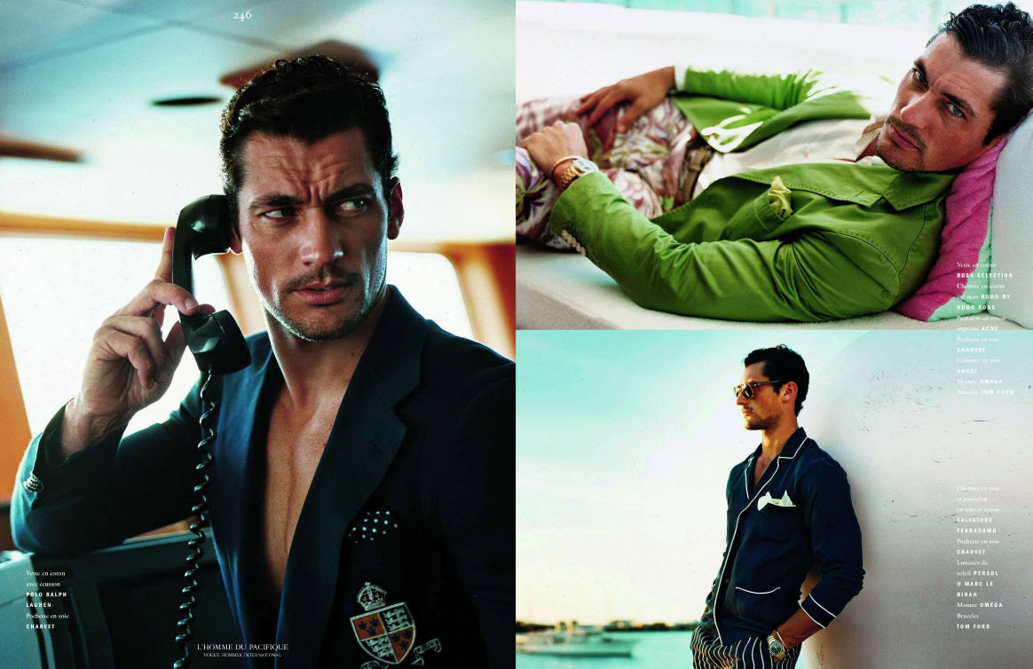 David Gandy by Jack Pierson for Vogue Hommes International |Editorial Candy