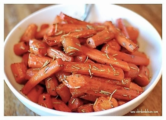 Roasted Maple Rosemary Carrots