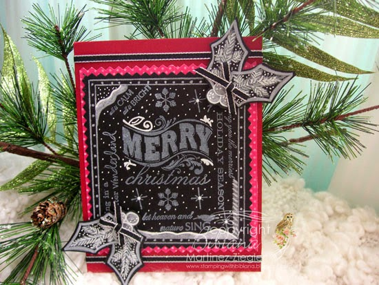 chalkboard christmas front card