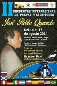 """II Encuentro Internacional de Poetas y Escritores  """"José Pablo Quevedo"""" 2014"""