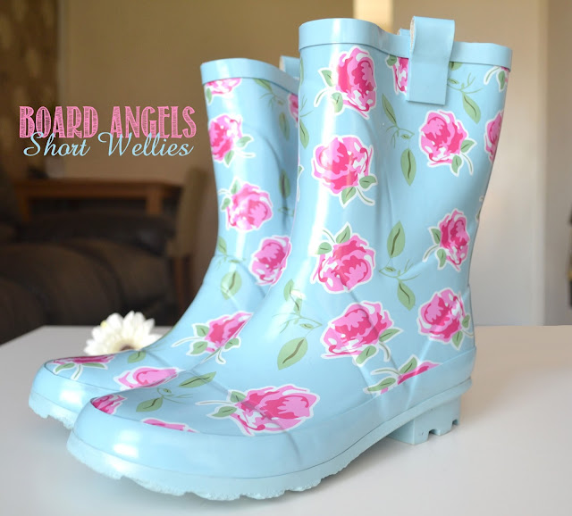 Photo of short wellies wellington boots shabby chic rose print review