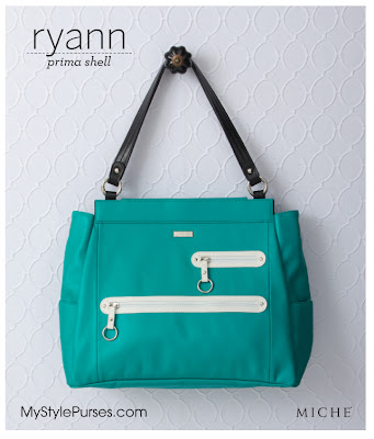 Miche Bag Ryann Prima Shell - Large Turquoise Purse