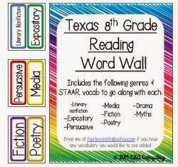 http://www.teacherspayteachers.com/Product/Texas-8th-Grade-Reading-Word-Wall-1344074