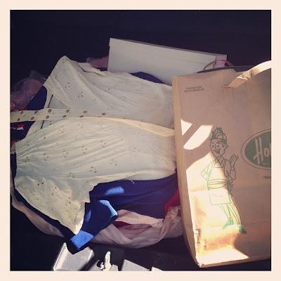 vintage dresses trunk shot