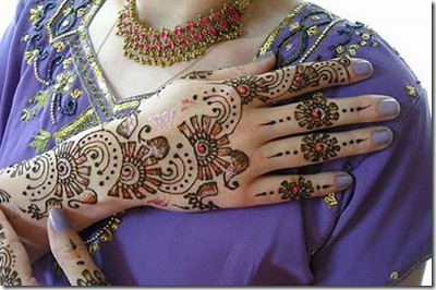 Mehndi Hand Name : Few popular arabic mehndi designs types