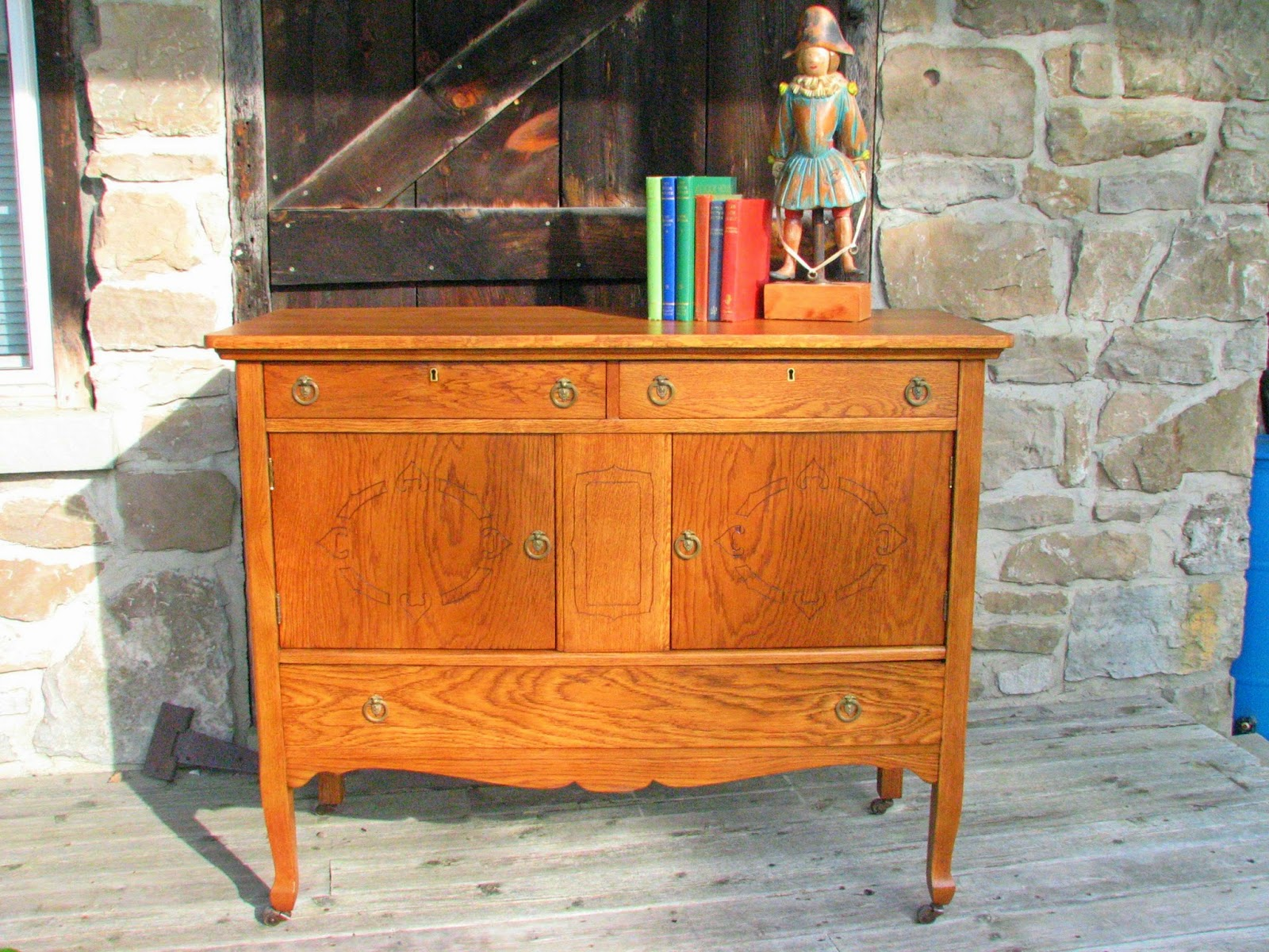 laurel 39 s attic antique stained buffet sold. Black Bedroom Furniture Sets. Home Design Ideas