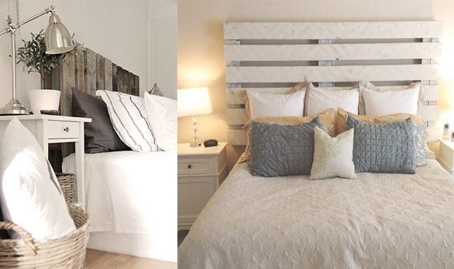 Con decoro muebles de palets - Cabeceros hechos con palets ...