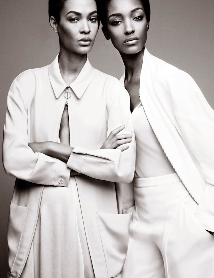 Joan Smalls and Jourdan Dunn by Patrick Demarchelier for W Magazine February 2014