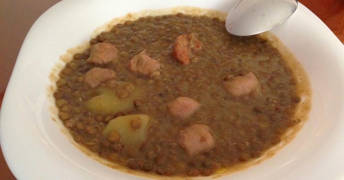 La chef de mi cocina lentejas con chorizo y patatas - Tefal multicook pro recetas ...