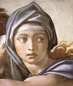 Sibilla Delfica (a detail), by Michelangelo
