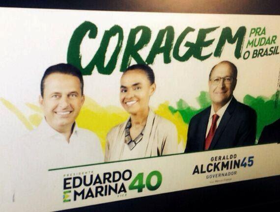 Aécio e Alckmin: união só nas fotos Desde que começou a eleição, a equipe de Alckmin conversa com integrantes da equipe de Campos para definir estratégias comuns no Estado. E agora começam a pipocar pelo interior paulista fotos e propaganda dessa parceria entre o governador e o presidenciável do PSB.Candidato do PSB age para material não ser distribuído