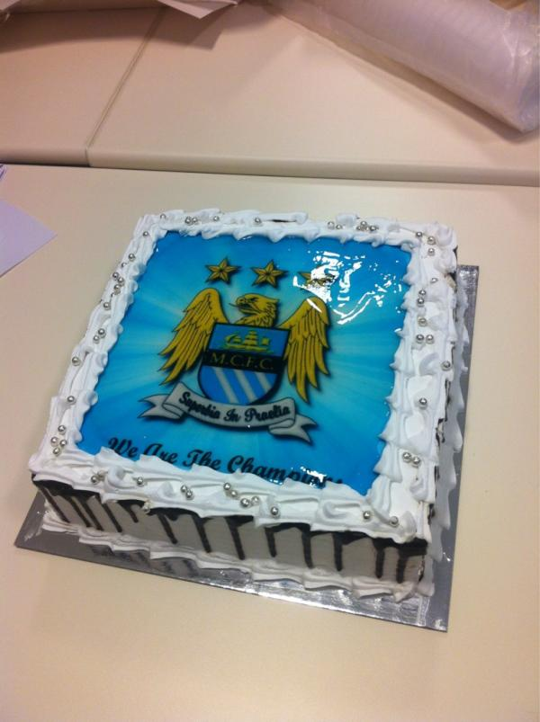 Man City Birthday Cake Topper Image Inspiration of Cake and