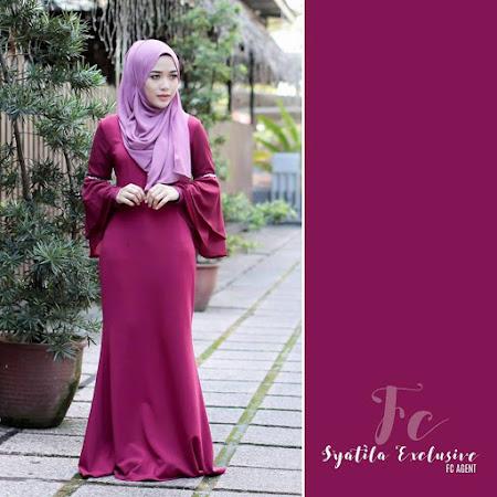 Koleksi TErbaru Syatila Dress Dengan 6 Pilihan Warna Menawan