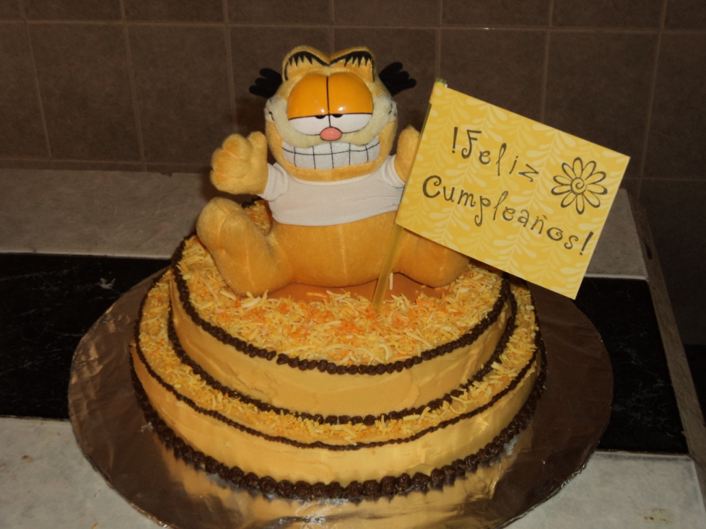 Pin Garfield And Odie Edible Cake Image 44 Easter Cake on Pinterest