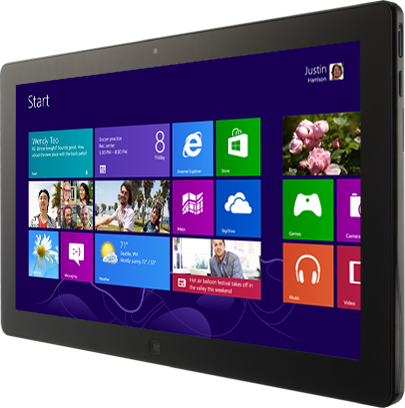 Komputer tablet dengan Windows 8