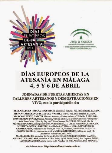 Cartel Días Europeos de la Artesanía 2014