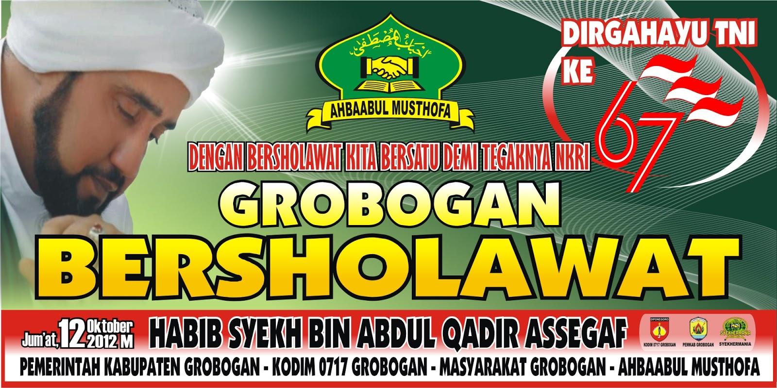 """GROBOGAN BERSHOLAWAT - DIRGAHAYU TNI KE 67 """""""