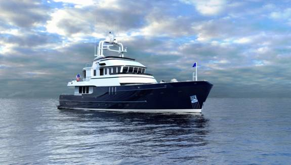 The Chunky 25 metre yacht is designed for unlimited ocean service, ...