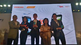 Evercoss Luncurkan Dua Smartphone 4G Rp1 Jutaan (Foto Dini Listiyani-okezone)