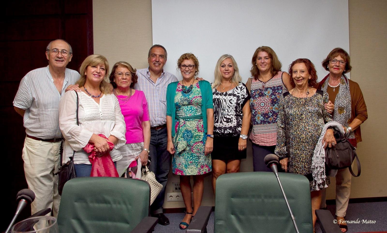 Grupo de pintores con Roser Caballé