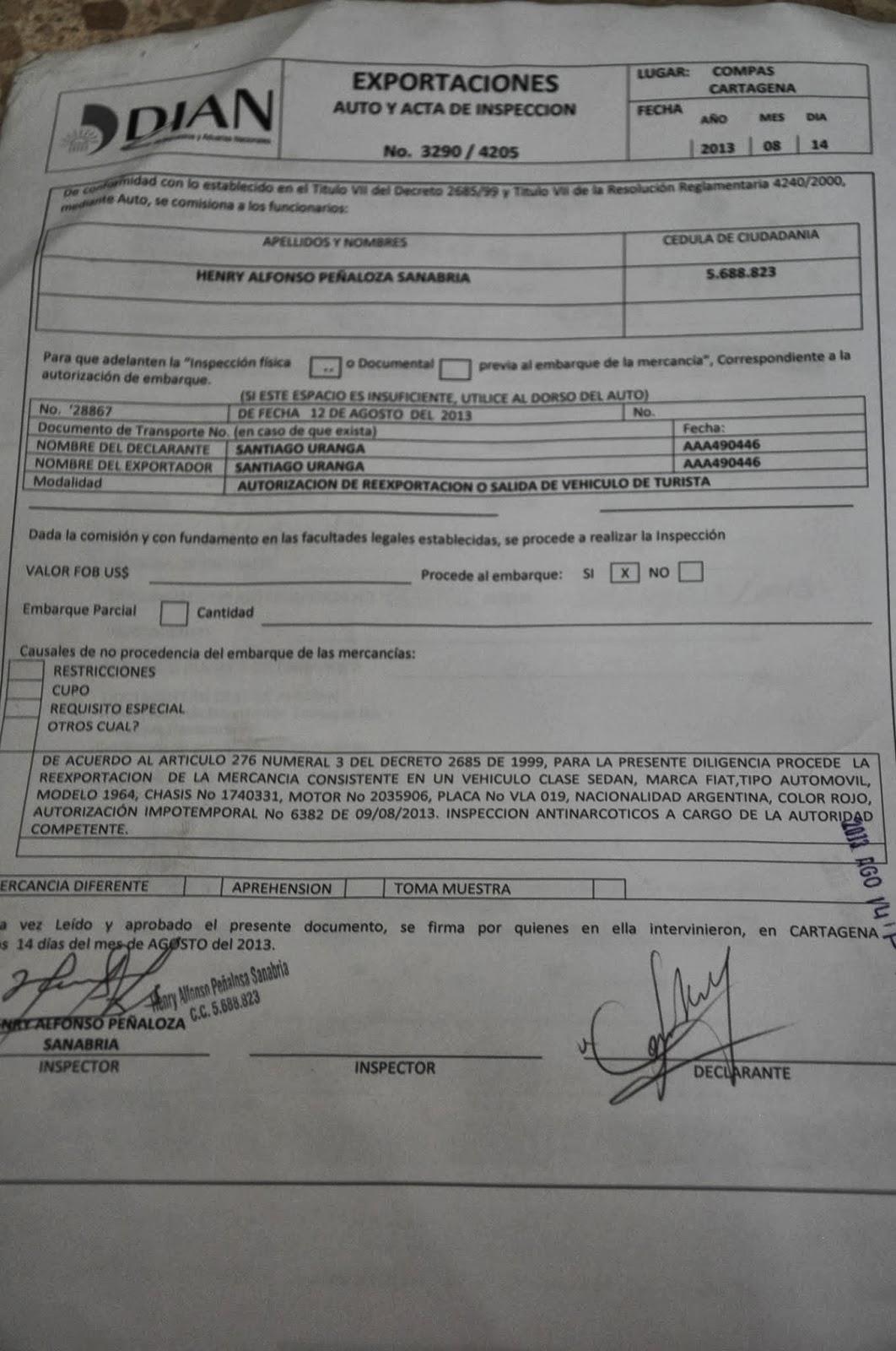 Impuesto de aduana argentina