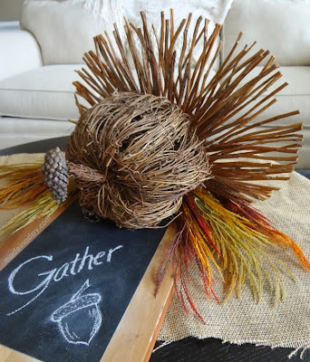 Rustic Turkey Centerpiece