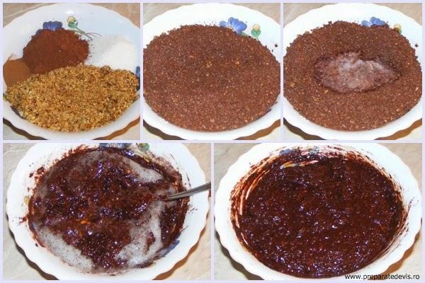 umplutura cozonac, umplutura cozonac din nuca si cacao, cum se face umplutura pentru cozonac, retete culinare, preparate culinare, ingrediente, preparare crema de cozonac, preparare umplutura pentru cozonac,