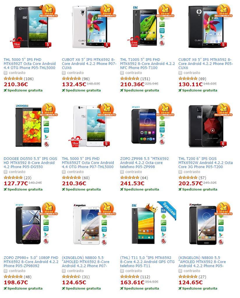 Fantastici Smartphone con processore Octa Core a prezzi Super Economici!!