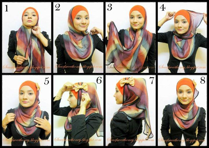 Как завязать хиджаб пошаговое фото