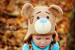 classic teddy bear hat handmade by IraRott