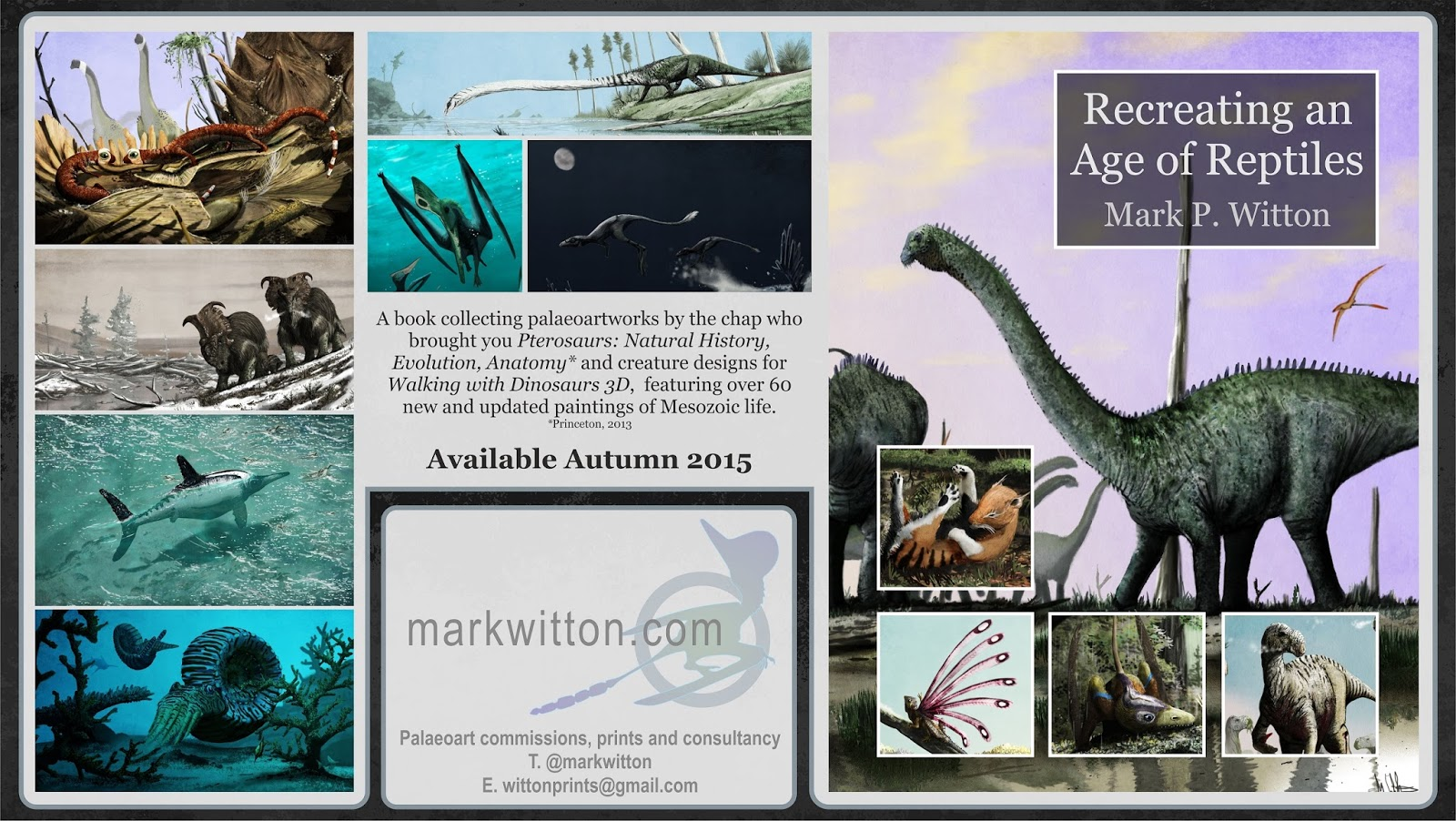 Mark Witton Blog A New Book Recreating An Age Of Reptiles