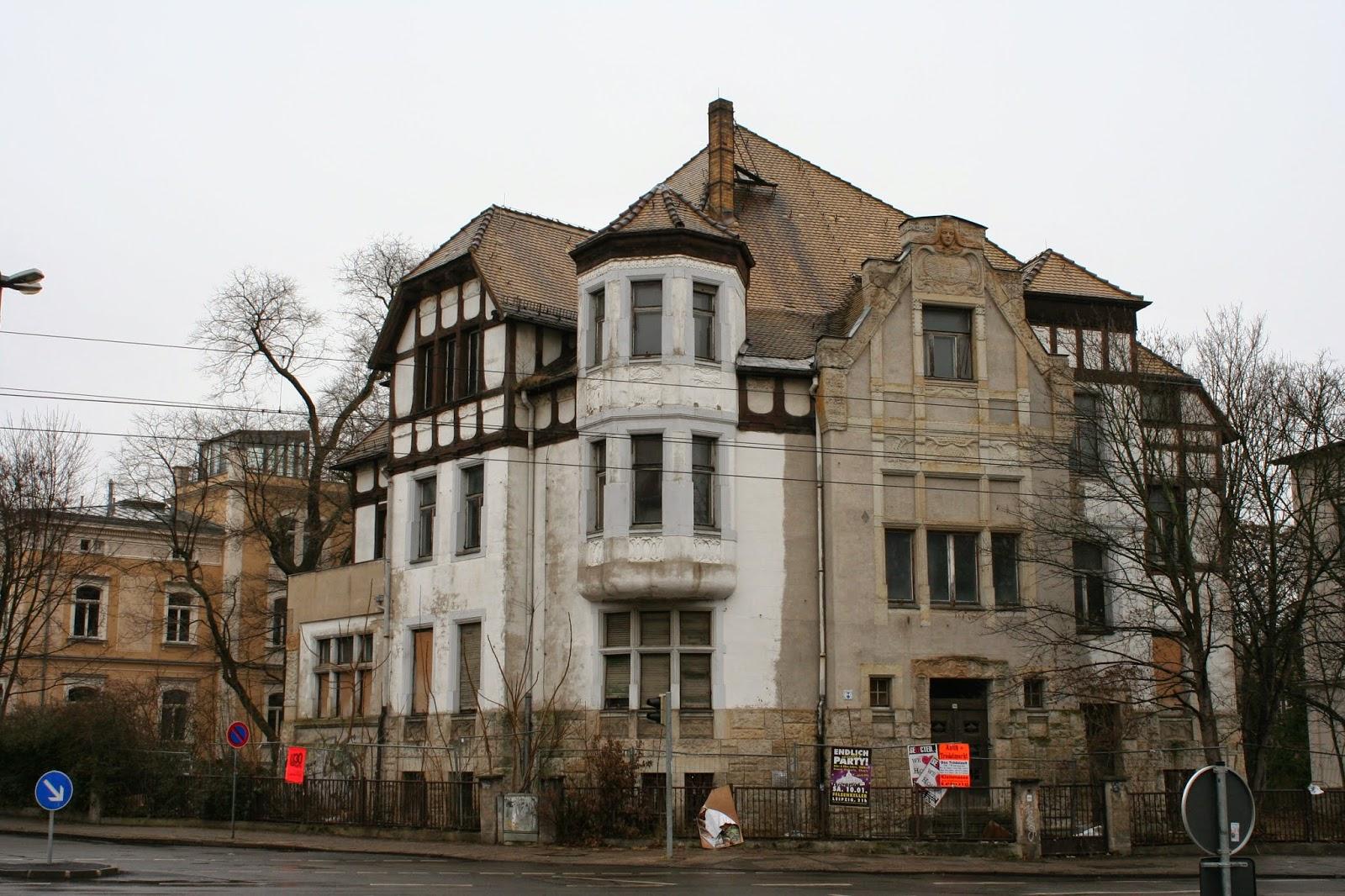 Wagner-Nietzsche-Villa an der Karl-Heine-Straße im Stadtteil Plagwitz
