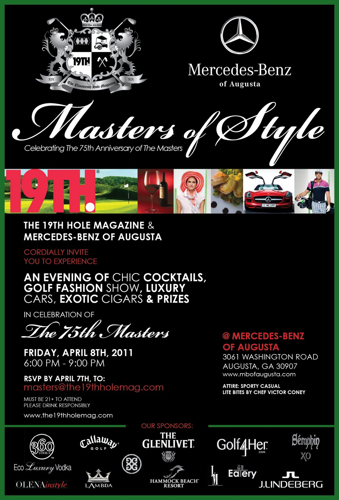 The fashion caddy blog the 19th hole magazine and for Mercedes benz of augusta 3061 washington rd