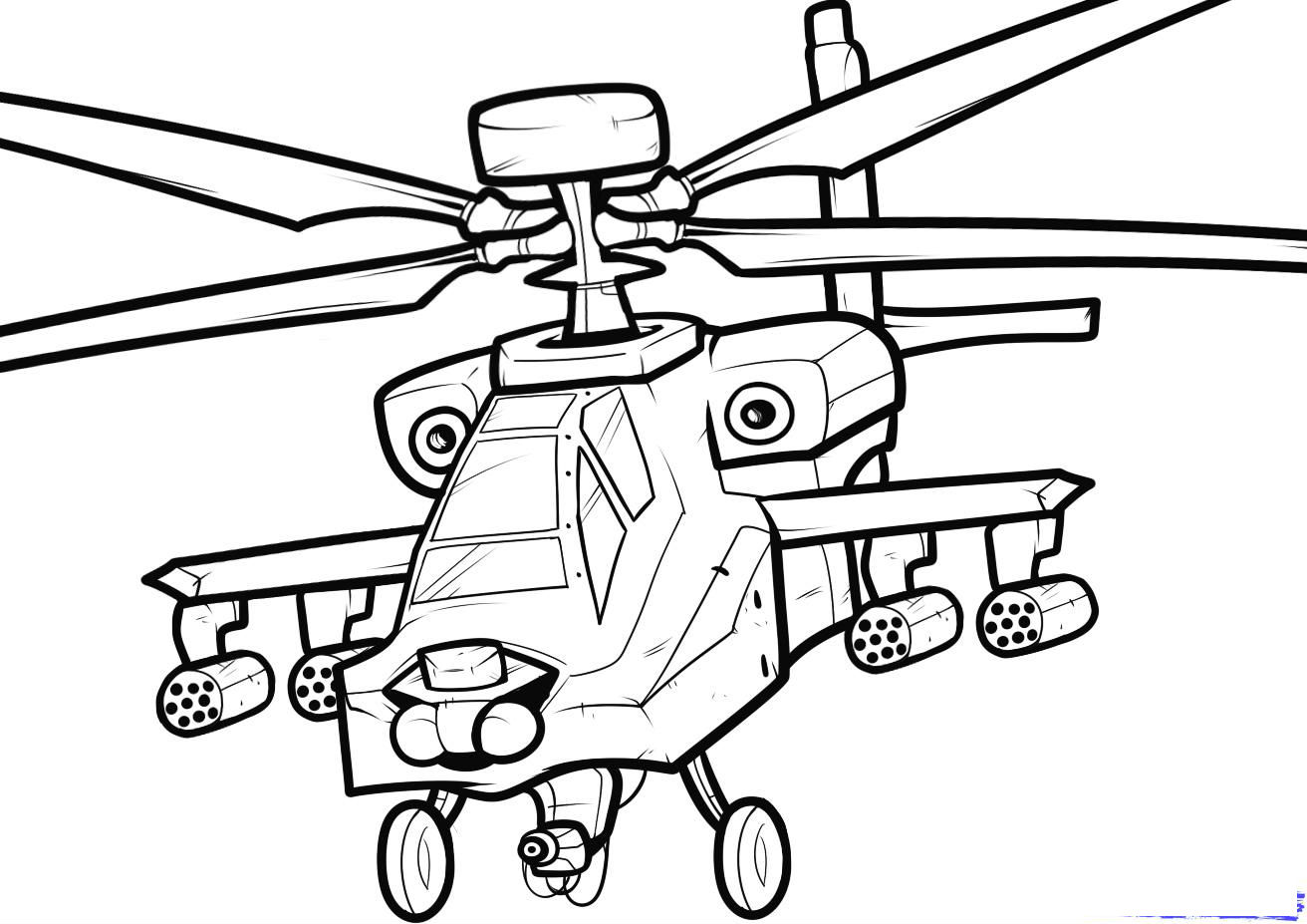 army helicopter coloring pages - photo#3