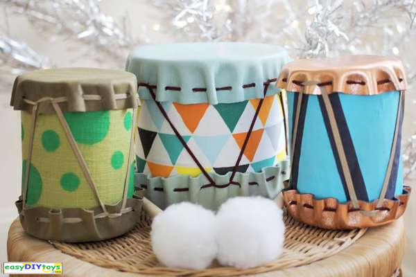 DIY Toy Drums For Kids