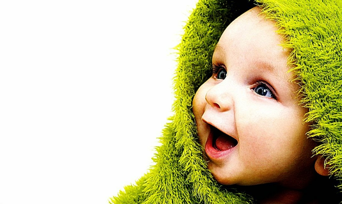 View Original Size Funny Cute Baby Playing Laptop Wallpapers