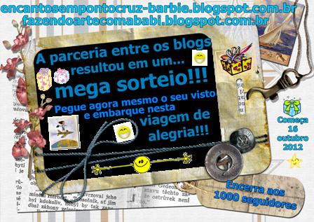 """Sortei no Blog """"Encantos em Ponto Cruz """"   Parceria com  a Barbara Amaral"""