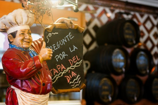 Sign in Taberna Miami in Seville