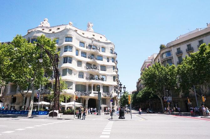 Façade de la Pedrera à Barcelone