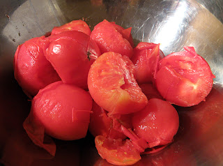 Bowl of Tomatoes with Loose Skins