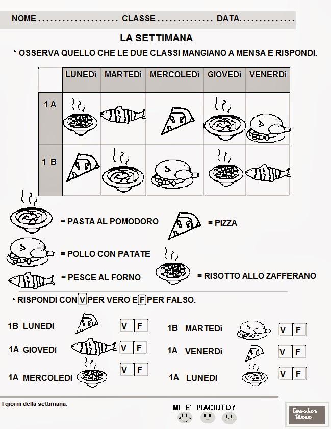 Famoso Teacher Maia- Il blog della maestra Maia: Schede didattiche classe  HL82