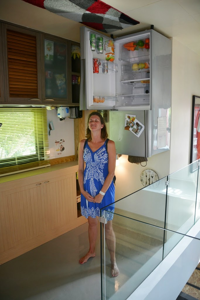 Upside down house Phuket kitchen