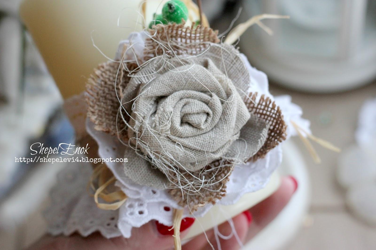 Как сделать цветок из ткани на платье своими руками? 3