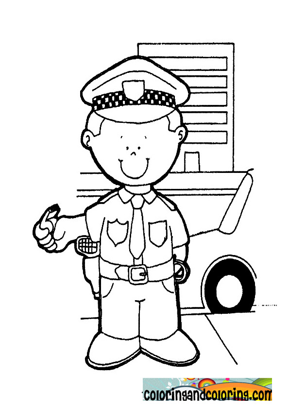 coloring pages police - photo#19