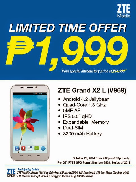 Sale Alert: ZTE Grand X2 L Now Available for P1,999
