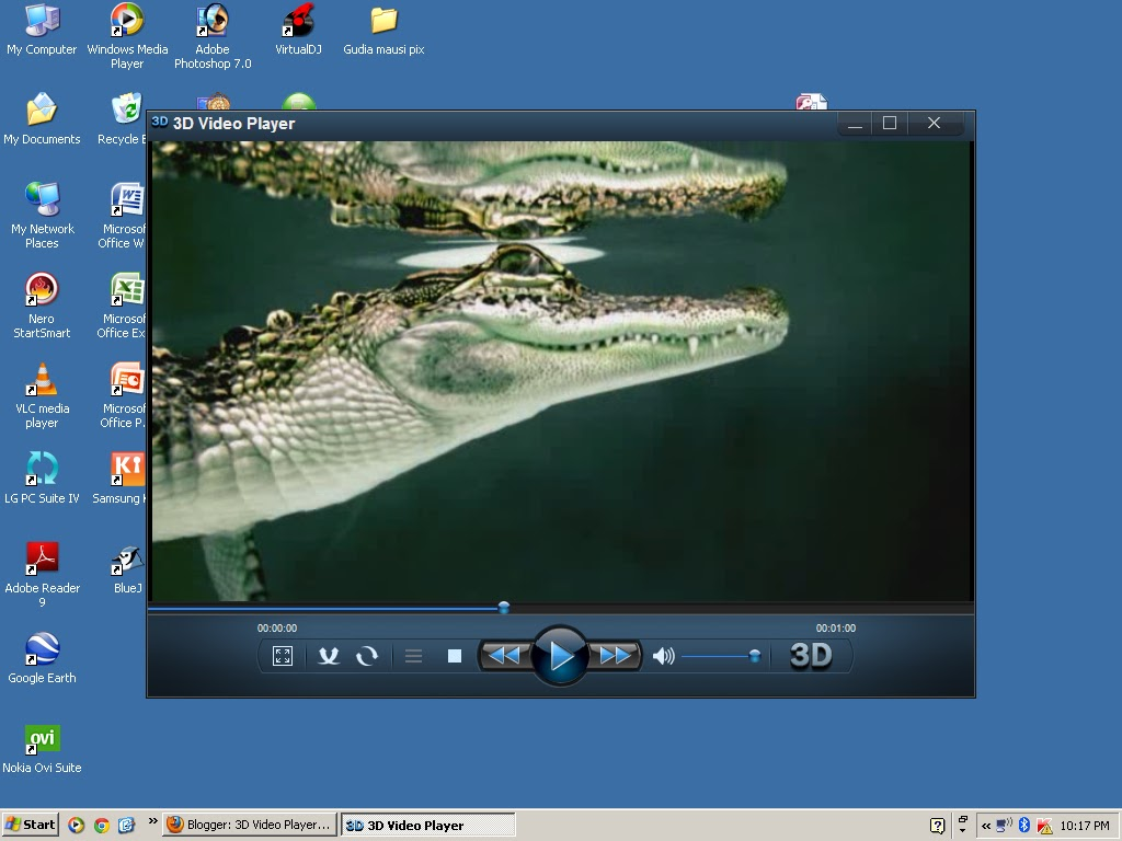 2d to 3d video player