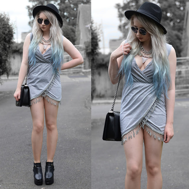 Sammi Jackson - Grey + Silver ft ZNU Official Grey Frill Dress