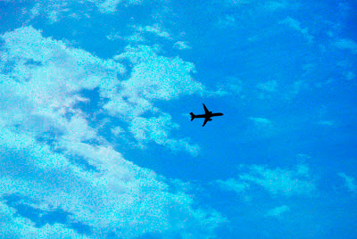 jet plane picture with layers added in photoshop