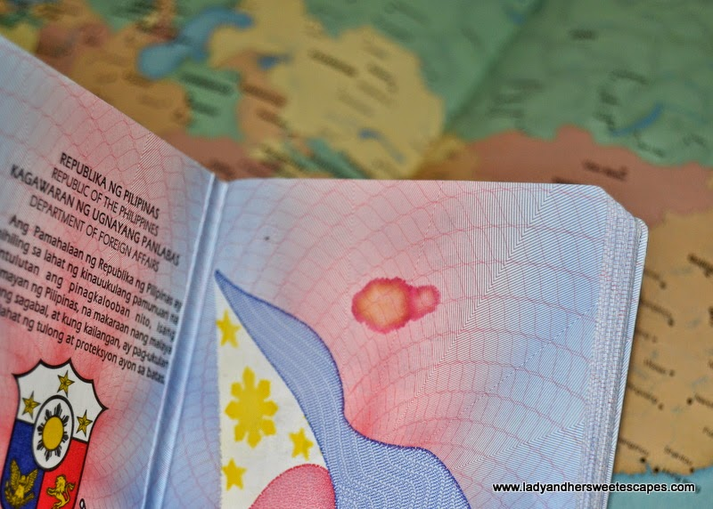 tampered Philippine Passport