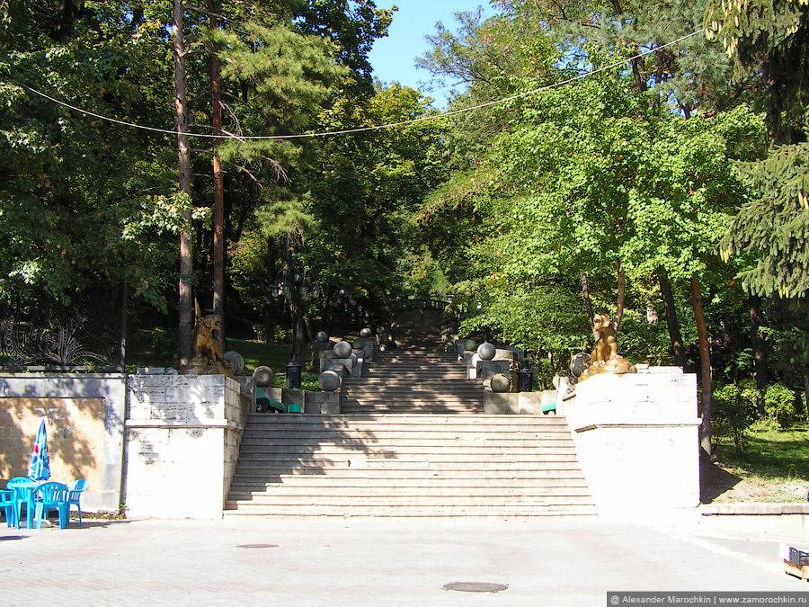 Вход в курортный парк Железноводска